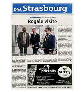 Article de presse DNA Strasbourg - Royale visite